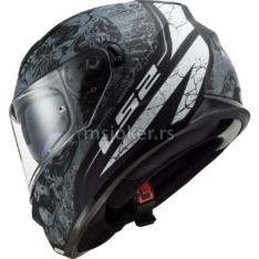 Kaciga LS2 Full Face FF320 STREAM EVO THRONE sa naočarima mat crna titanium L