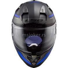 Kaciga LS2 Full Face FF327 CHALLENGER FUSION mat titanium plava XL