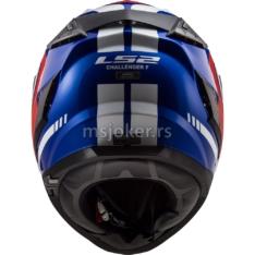 Kaciga LS2 Full Face FF327 CHALLENGER FUSION plavo crvena XL