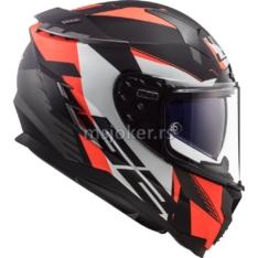 Kaciga LS2 Full Face FF327 CHALLENGER SQUADRON mat narandžasta XL