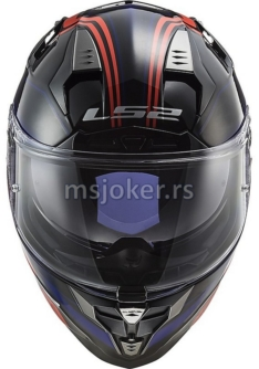 Kaciga LS2 Full Face FF327 CHALLENGER PROPELLER crveno plava XL