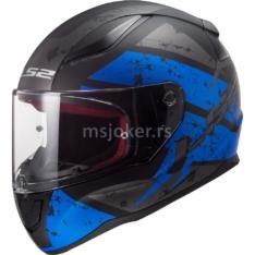Kaciga LS2 Full Face FF353 RAPID DEADBOLT mat crno plava L