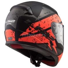 Kaciga LS2 Full Face FF353 RAPID DEADBOLT mat crno narandžasta L