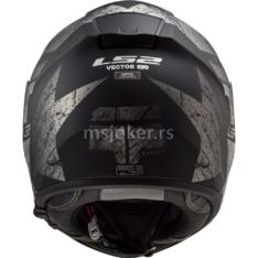 Kaciga LS2 Full Face FF397 VECTOR HUNTER mat crna titanium M