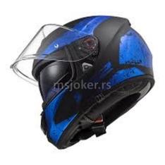 Kaciga LS2 Full Face FF397 VECTOR FT2 SIGN sa naočarima mat crno plava XL
