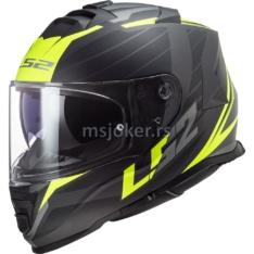 Kaciga LS2 Full Face FF800 STORM NERVE crno žuta M