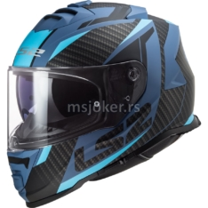 Kaciga LS2 Full Face FF800 STORM RACER mat plava M
