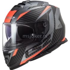 Kaciga LS2 Full Face FF800 STORM RACER crno titanium narandžasta M