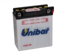 Akumulator UNIBAT 12V 5Ah kiselinski 12N5-3B desni plus (120x60x130) 60A