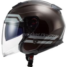 Kaciga LS2 Jet OF521 INFINITY HYPER WOOD  sa naočarima XL
