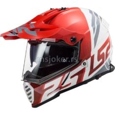 Kaciga LS2 Cross MX436 PIONEER EVO EVOLVE belo crvena XL