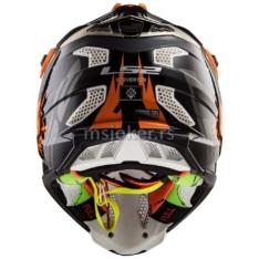 Kaciga LS2 Cross MX470 SUBVERTER EMPEROR crno narandžasta XXL