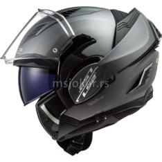 Kaciga LS2 Flip Up FF900 VALIANT II mat titanium sa naočarima XXL