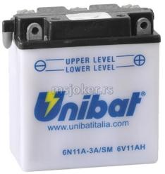 Akumulator UNIBAT 6V 11Ah kiselinski 6N11A-3A desni plus (122x62x132)