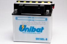 Akumulator UNIBAT 12V 19Ah sa kiselinom CB16CL-B-SM desni plus (175x100x175) 240A