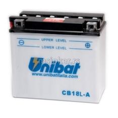 Akumulator UNIBAT 12V 18Ah sa kiselinom CB18L-ASM desni plus (180x90x162) 235A
