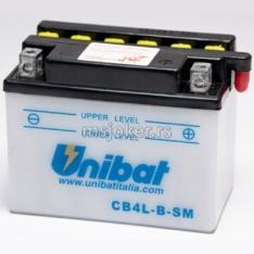 Akumulator UNIBAT 12V 4Ah kis.sa kiselinom CB4L-BSM desni (120x70x92)