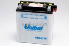 Akumulator UNIBAT 12V 5Ah sa kiselinom CB5L-B desni plus (120x60x130) 65A