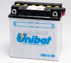 Akumulator UNIBAT 12V 9Ah sa kiselinom kis. CB9-BSM levi (135x75x139)