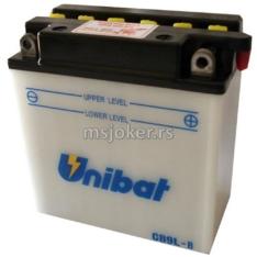 Akumulator UNIBAT 12V 9Ah sa kiselinom CB9L-BSM desni plus (135x75x139) 130A