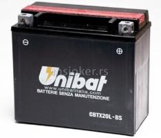 Akumulator UNIBAT 12V 18Ah gel CBTX20L-BS desni plus (175x87x155) 270A