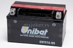 Akumulator UNIBAT 12V 6Ah l gel CBTX7A-BS levi (150x87x94)-4