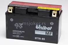 Akumulator UNIBAT 12V 6,5Ah gel CT7B-BS levi plus (150x65x93) 85A