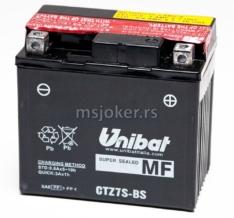 Akumulator UNIBAT 12V 6Ah gel CTZ7S-BS desni plus (113x70x105) 130A