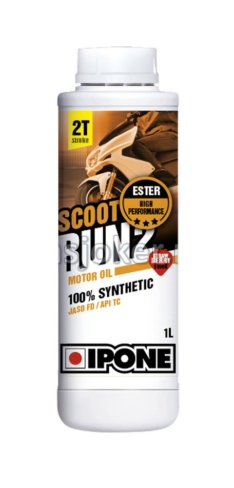 IPONE sintetičko ulje za skutere 2T sa mirisom JAGODE 2T Scoot Run 2 1L