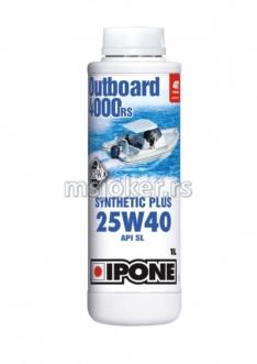 IPONE polusintetičko ulje za vanbrodske motore 4T Marine Outboard 4000RS 25W40 1L