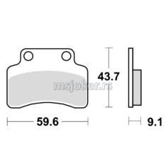 Disk pločice TRW GY6 50cc MCB694 ( ORGANIC )
