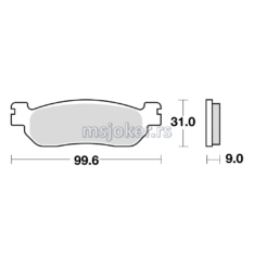 Disk pločice TRW MCB699SRM ( MAXI – SCOOTER SINTER )