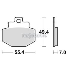 Disk pločice TRW MCB727SRM ( MAXI – SCOOTER SINTER )