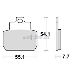 Disk pločice TRW MCB782 ( ORGANIC )