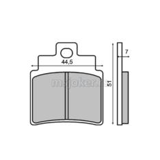 Disk pločice RMS Kymco Gran Dink 250 prednje