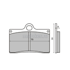 Disk pločice RMS Aprilia RS250 prednje