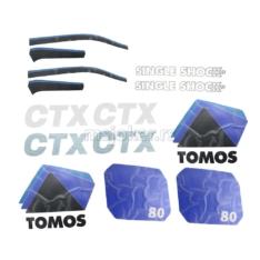 Nalepnice Tomos CTX80 veliki set