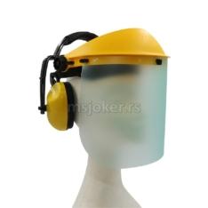 Štitnik lica od polikarbonata sa antifonima za uši