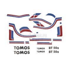 Nalepnice Tomos BT50 veliki set