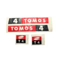 Nalepnice Tomos T4 crne stari tip
