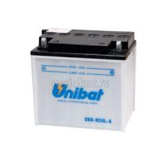 Akumulator UNIBAT 12V 28Ah sa kiselinom C60-N24LA desni plus (184x124x170) 300A