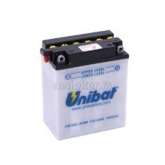 Akumulator UNIBAT 12V 12Ah sa kiselinom CB12AL-ASM desni plus (134x80x160) 165A