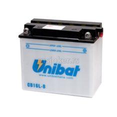 Akumulator UNIBAT 12V 19Ah sa kiselinom CB16L-B desni plus (175x100x155) 240A