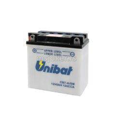 Akumulator UNIBAT 12V 8Ah sa kiselinom CB7-A levi plus (135x75x133) 124A