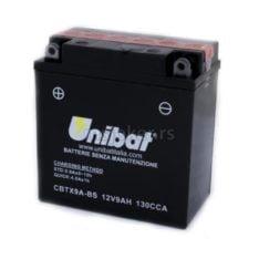 Akumulator UNIBAT 12V 9Ah gel CBTX9A-BS levi plus (135x75x139) 130A